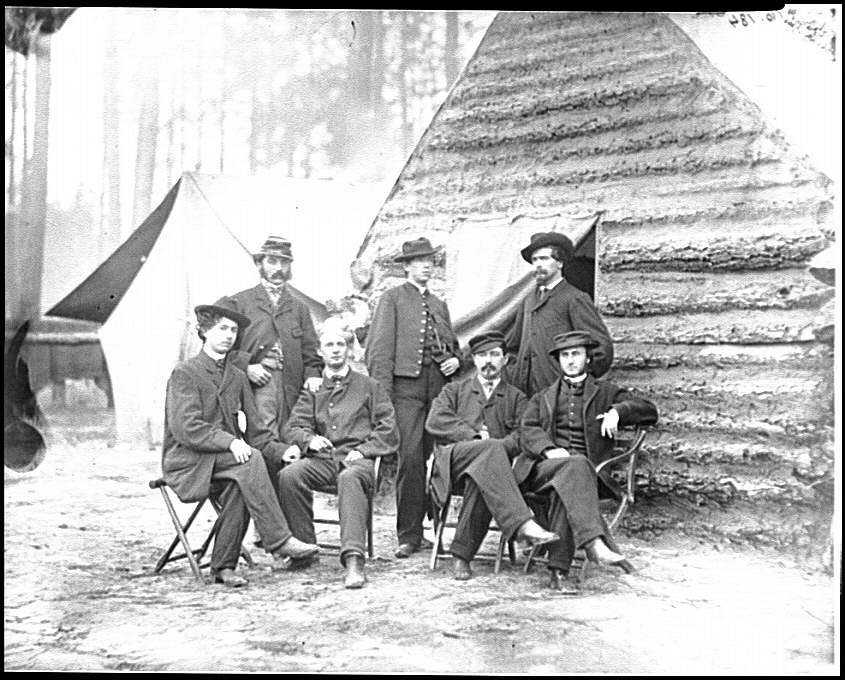 [Brandy Station, Va. Clerks at Army of the Potomac headquarters]