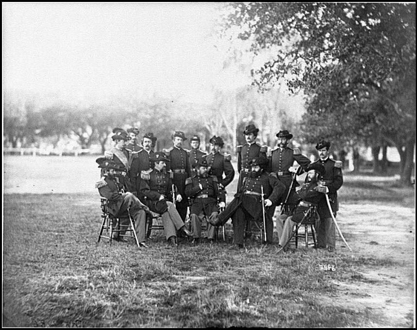 [Fort Monroe, Va. Officers of 3d Pennsylvania Heavy Artillery]