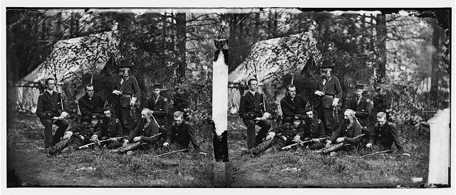 Harrison&#39;s Landing, Virginia. Gen. Samuel P. Heintzelman and staff