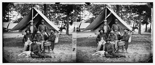 Fair Oaks, Virginia (vicinity). Gen. George Stoneman and staff