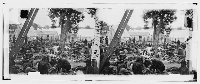 Savage Station, Virginia. Union field hospital after the battle of June 27