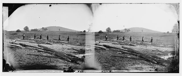 [Cedar Mountain, Va. Union graves on the battlefield]