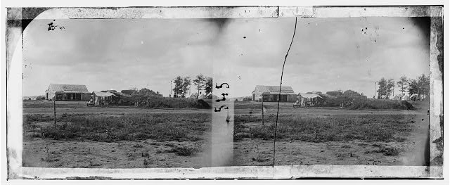 Manassas, Virginia. Confederate fortifications