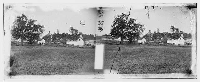 Antietam, Maryland. Ruins of Mumma's house on the battlefield