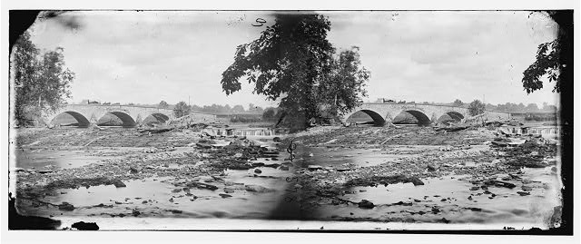 Antietam, Maryland. Antietam bridge, on Sharpsburg and Boonsboro turnpike