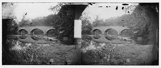Antietam, Maryland. Burnside bridge across the Antietam. Northwest view