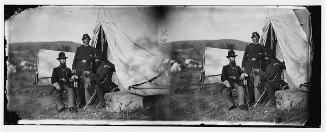 [Antietam, Md. Col. John S. Crocker, Lt. Col. Benjamin C. Butler, and adjutant of 93d New York Volunteers]