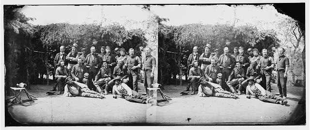 Cumberland Landing, Virginia. Group of civilians and soldiers