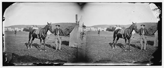 Maryland. John C. Babcock, a Secret Service man and Gimlet, a celebrated war horse of the Rappahannock