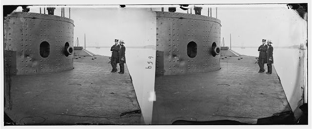 [James River, Va. Deck and turret of U.S.S. Monitor]