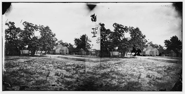 [Cold Harbor, Va, vicinity. W. P. Burnett's house; tents at left]
