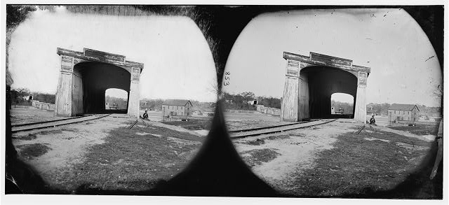 [Richmond, Va. Ruins of Richmond & Danville Railroad bridge]