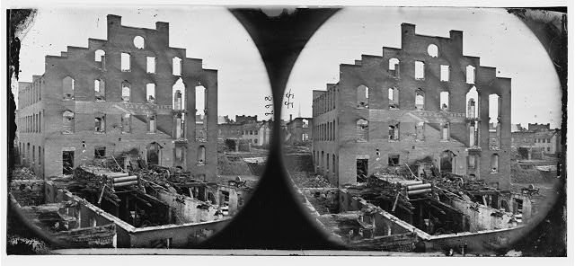 [Richmond, Va. Ruins of paper mill; wrecked paper-making machinery in foreground]
