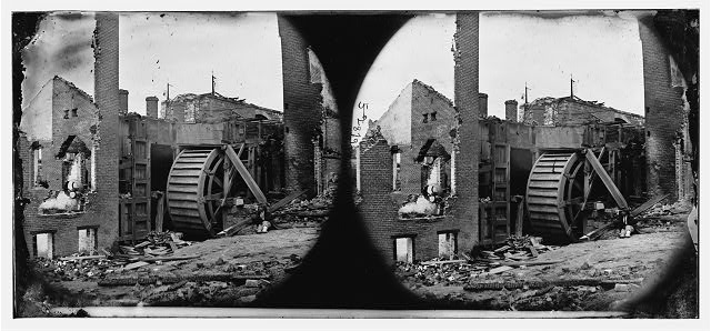 [Richmond, Va. Ruins of paper mill with water-wheel; another view]