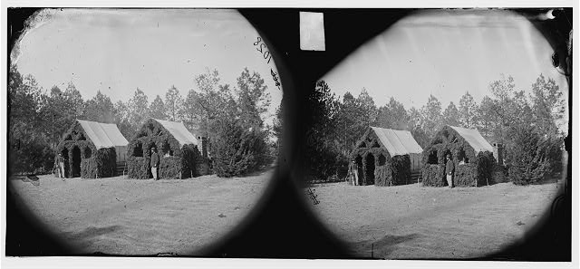 Petersburg, Virginia (vicinity). Officer's quarters, 50th New York Engineers