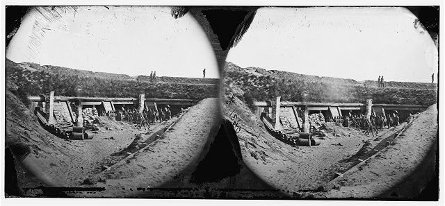 "[Fort Fisher, N.C. Interior of the ""Pulpit""; another view]"