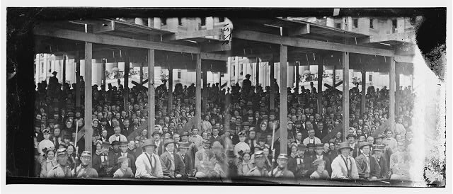 Washington, District of Columbia. Grand review of the army. Interior view of grandstand