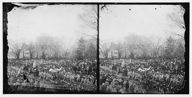 Washington, District of Columbia. Crowd at President Abraham Lincoln's second inauguration