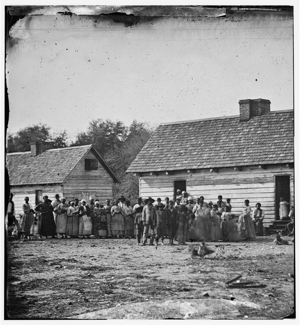 Beaufort, South Carolina. Group of negroes on J.J. Smith's plantation