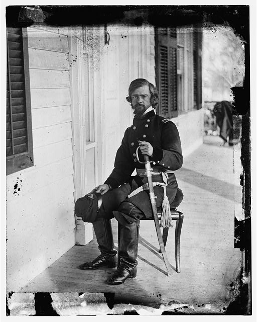 [Beaufort, S.C. Gen. Isaac I. Stevens on same porch]
