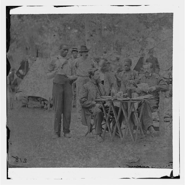 Bealeton, Virginia. Captain Henry P. Smith's mess. Company D, 93d New York Volunteers