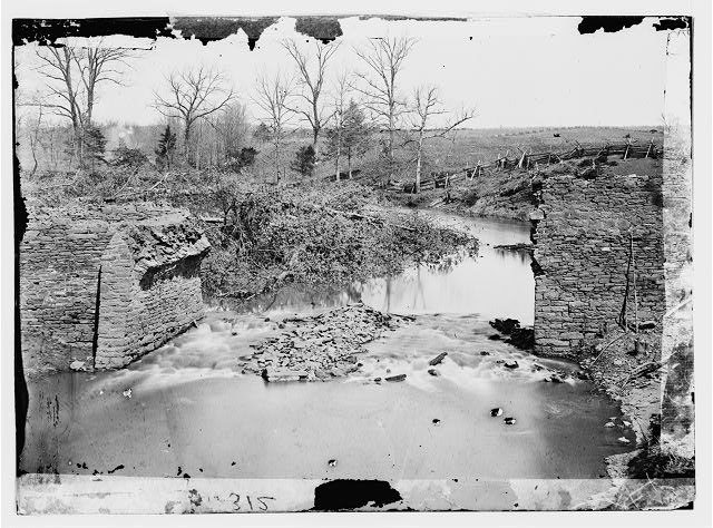 Bull Run, Virginia. Ruins of stone bridge