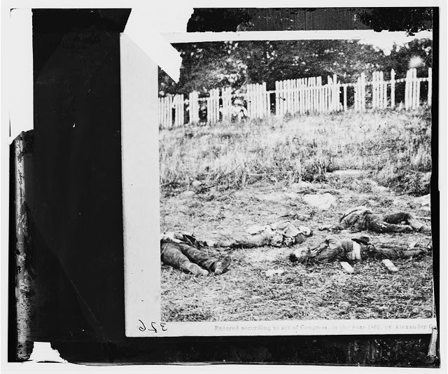Antietam, Maryland. Dead soldiers on battlefield