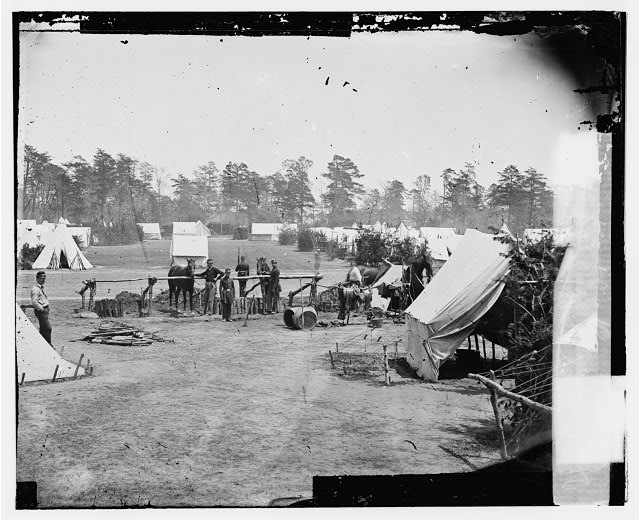 [Yorktown, Va., vicinity. Headquarters of Gen. George B. McClellan, Camp Winfield Scott]
