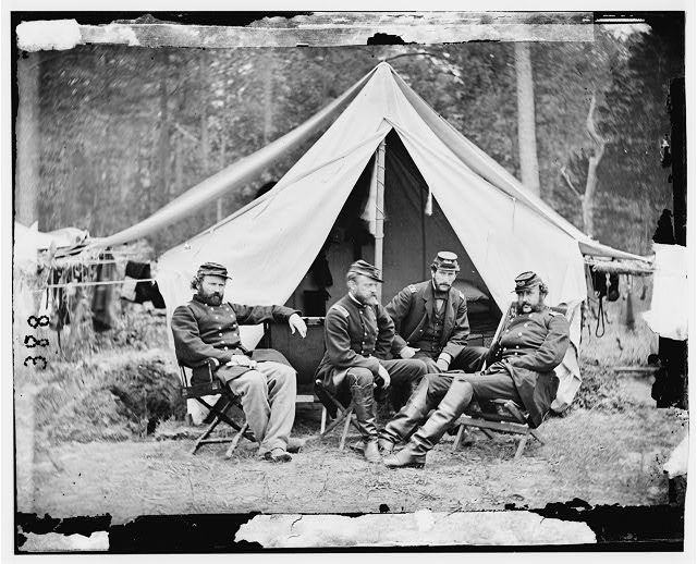The Peninsula, Virginia. Officers of General George B. McClellan's staff