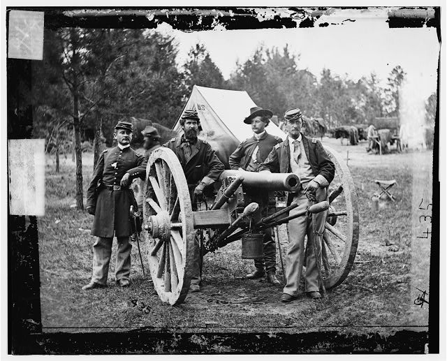 [Fair Oaks, Va., vicinity. Lt. Robert Clarke, Capt. John C. Tidball, Lt. William N. Dennison, and Capt. Alexander C.M. Pennington]