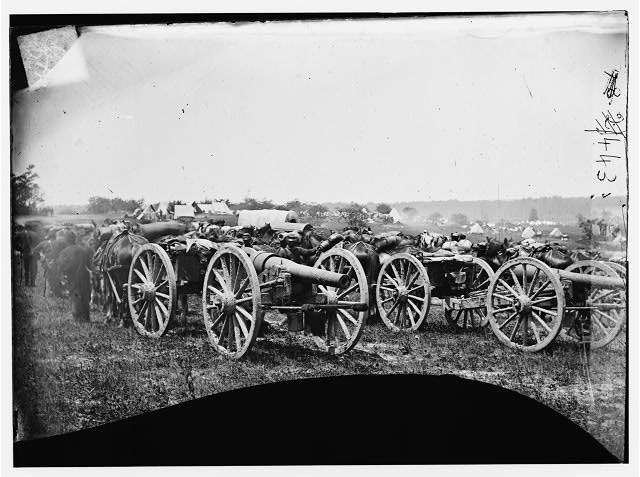 [Richmond, Va., vicinity. 20-pdr. v Parrott rifled guns of the 1st New York Battery]