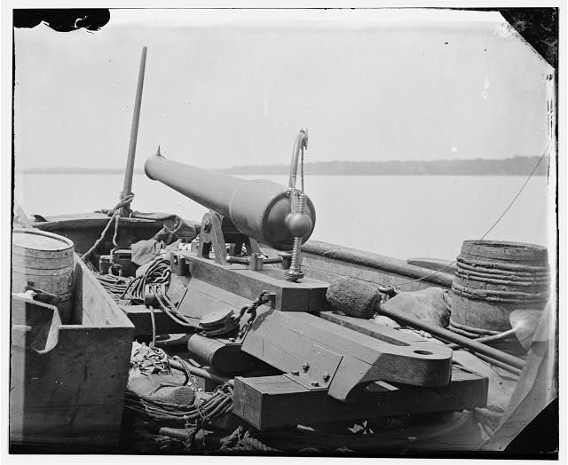 Bow Gun on Confederate gunboat Teazer, captured by the Maritanza