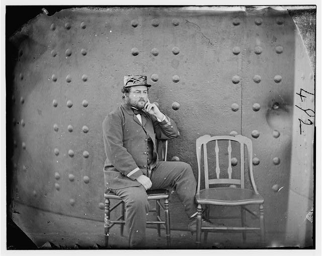 James River, Virginia. Captain W.N. Jeffers on deck of U.S.S. MONITOR