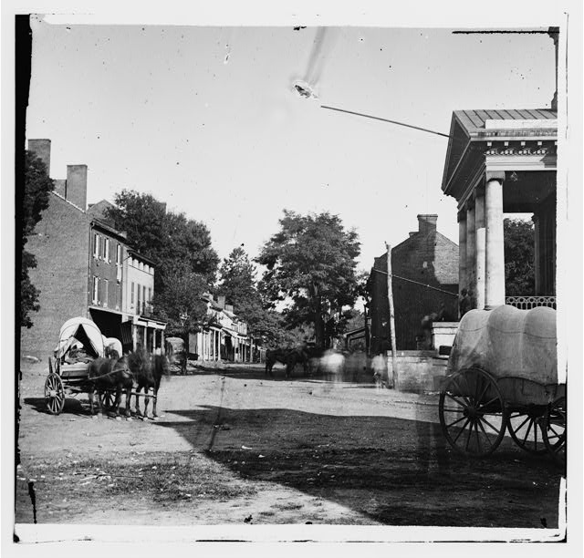 [Warrenton, Va. Street in front of courthouse]