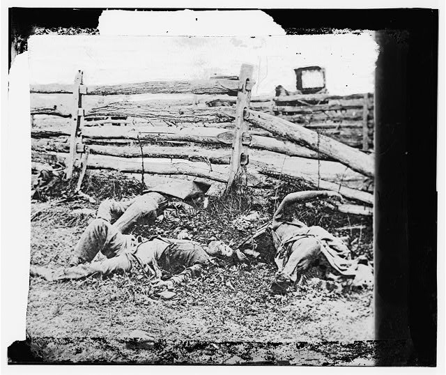Antietam, Maryland. Bodies of dead, Louisiana Regiment
