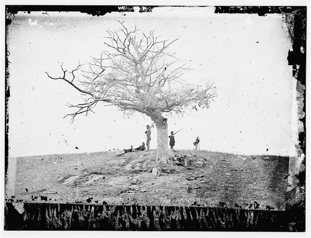 Antietam, Maryland. A lone grave