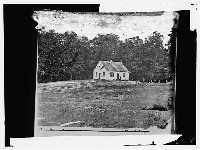Antietam, Maryland. Dunker church on battlefield