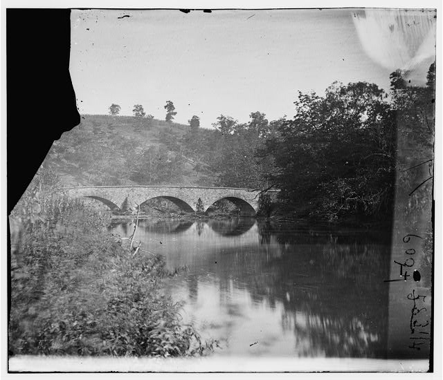 Antietam, Maryland. Antietam Bridge, looking down stream
