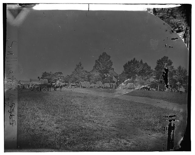 "Manassas, Virginia. Camp of General Irvin McDowell's body guard. ""Liberia"" William J. Weir House"
