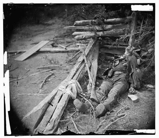 [Spotsylvania Court House, Va., vicinity. Body of a Confederate soldier near Mrs. Alsop's house]