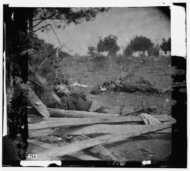 Spotsylvania Court House, Virginia. Bodies of Confederate soldiers near Mrs. Alsop's house