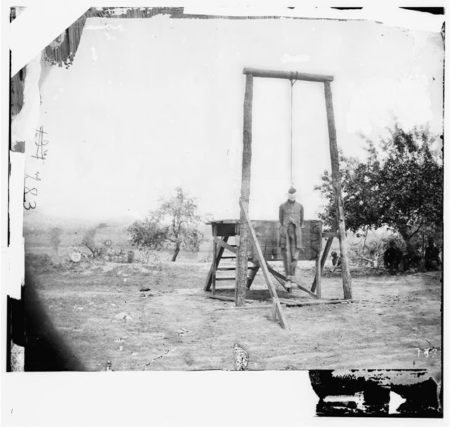 [Petersburg, Va., vicinity. The execution of William Johnson, Jordan's farm]