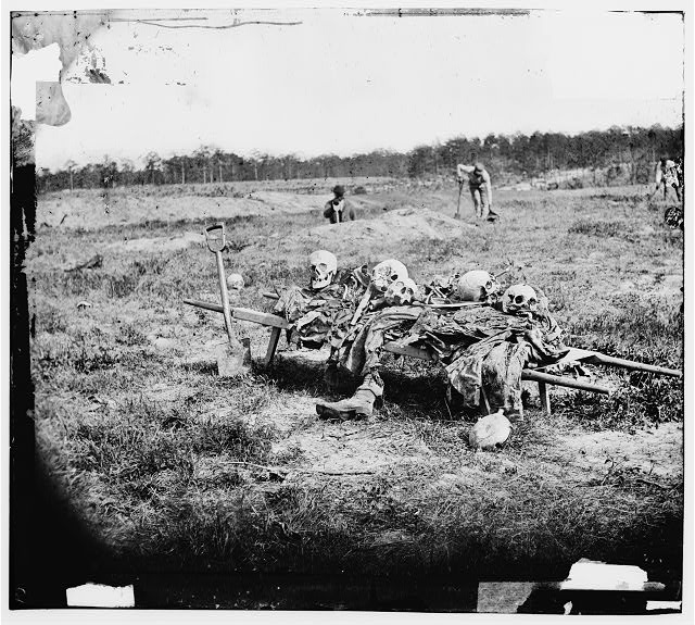 Cold Harbor, Virginia (vicinity). Collecting remains of dead on the battlefield