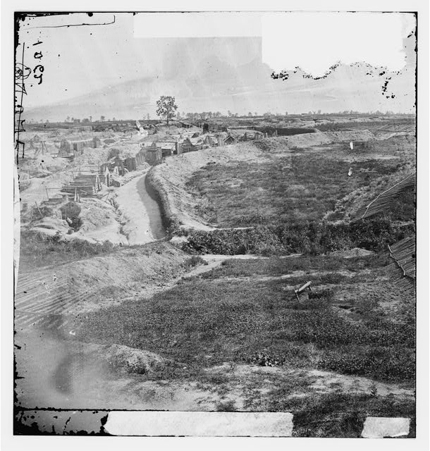 Petersburg, Virginia. View of Federal line near Fort Morton