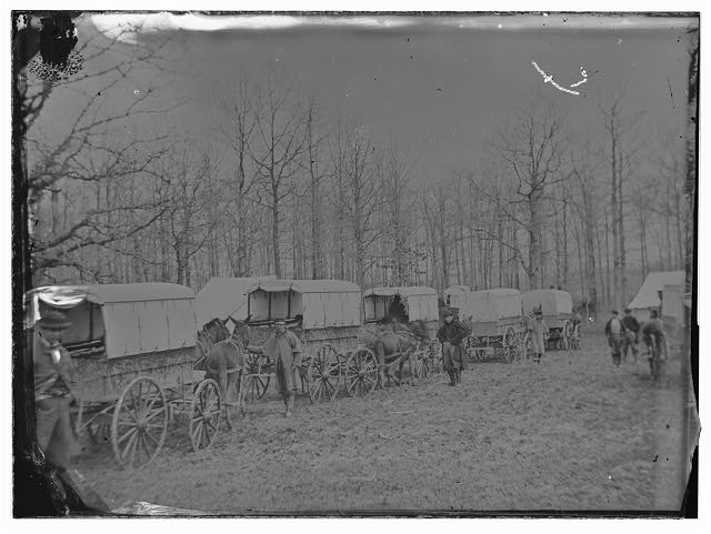Washington, District of Columbia. Ambulance train at Harewood Hospital. Miller. (v.7, p. 313 - Ambulance train at City Point, Va.)