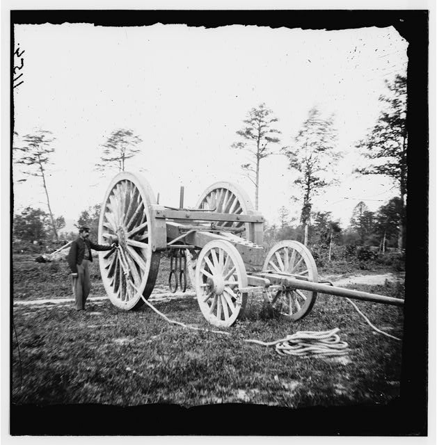 [Dutch Gap, Va., vicinity. Sling for transporting big guns]