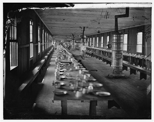 [Washington, D.C. Mess hall at Harewood Hospital, heated by elaborate stoves]