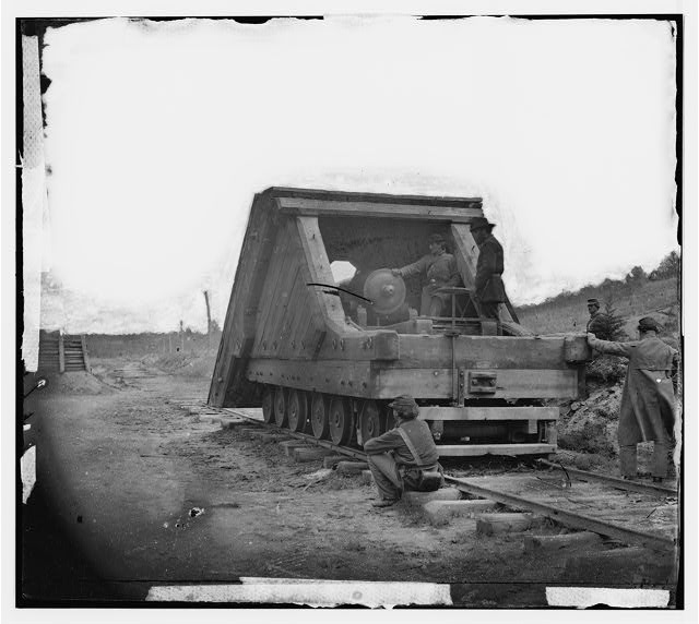 [Petersburg, Va. Railroad gun and crew]