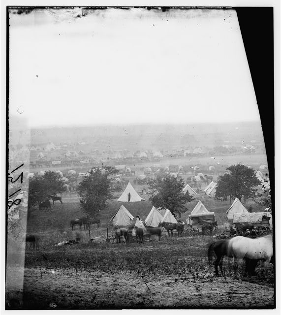 Cumberland Landing, Virginia. Federal encampment on the Pamunkey
