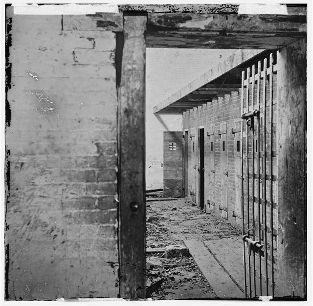 Alexandria, Virginia. Slave pen. Interior view